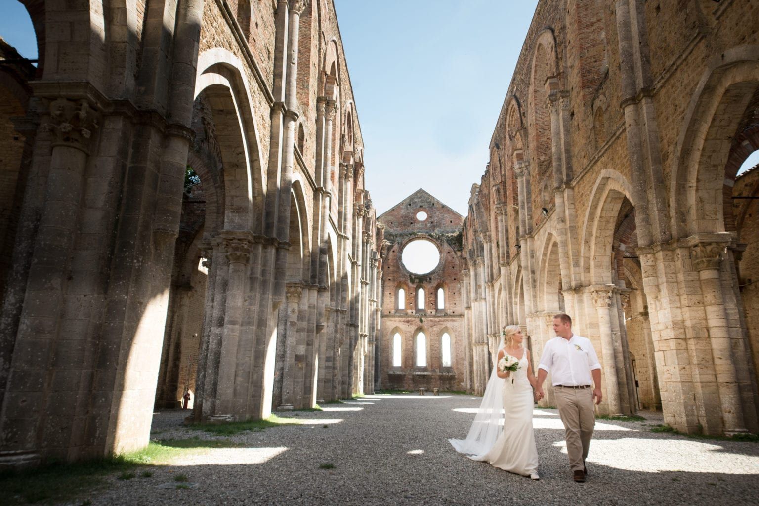 yes wedding italy wedding in abbey of san galgano bride and groom in the abbey 3